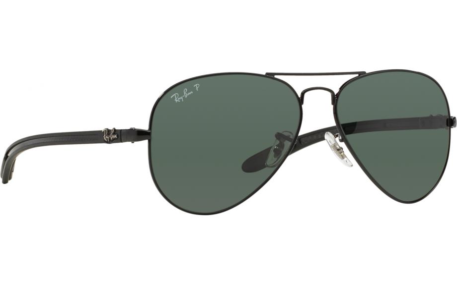 37809284600 Ray-Ban Aviator Carbon Fibre RB8307 002 N5 58 Sunglasses - Free Shipping