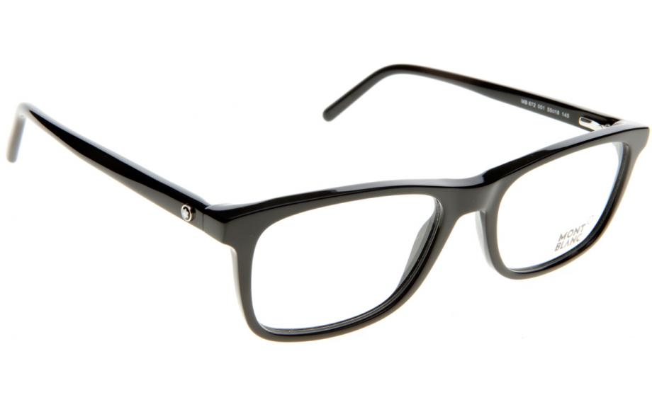 73a3482740 Mont Blanc MB0672 001 55 Glasses - Free Shipping